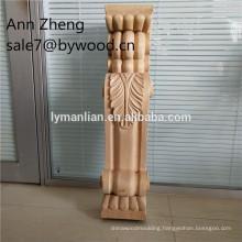 home decoration pillar wood carved pillar interior wood columns