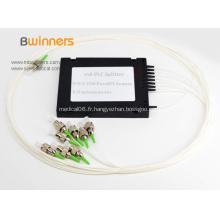 Répartiteur optique de coupleur de fibres à mode unique 1X8