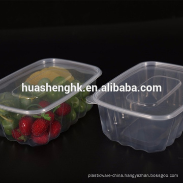 Disposable Plastic Food Container 700ml Microwave Safe