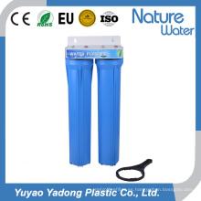 Filtro de agua azul de dos etapas