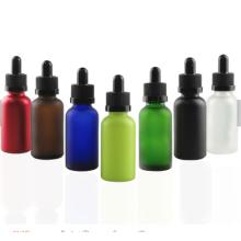 30 ml de vidrio esmerilado y botella de líquido