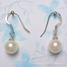 925 Silver Round Freshwater Pearl Earrings (ER1443)