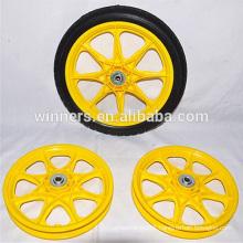 14x1.75 plastic spoke rim PU foam garden cart wheels