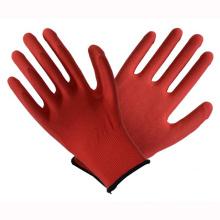 Red 13t Latex beschichtete Arbeitsschutz Sicherheitshandschuhe