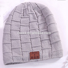 PK18ST012 wholesale wool cashmere knitted beanie hat with wireless earphone