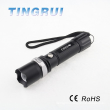 200LM LED Rechargeable Flashlight with Emergency Hammer