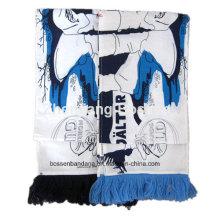 OEM-продукция под заказ логотип печатных приветствие футбольный матч шарф