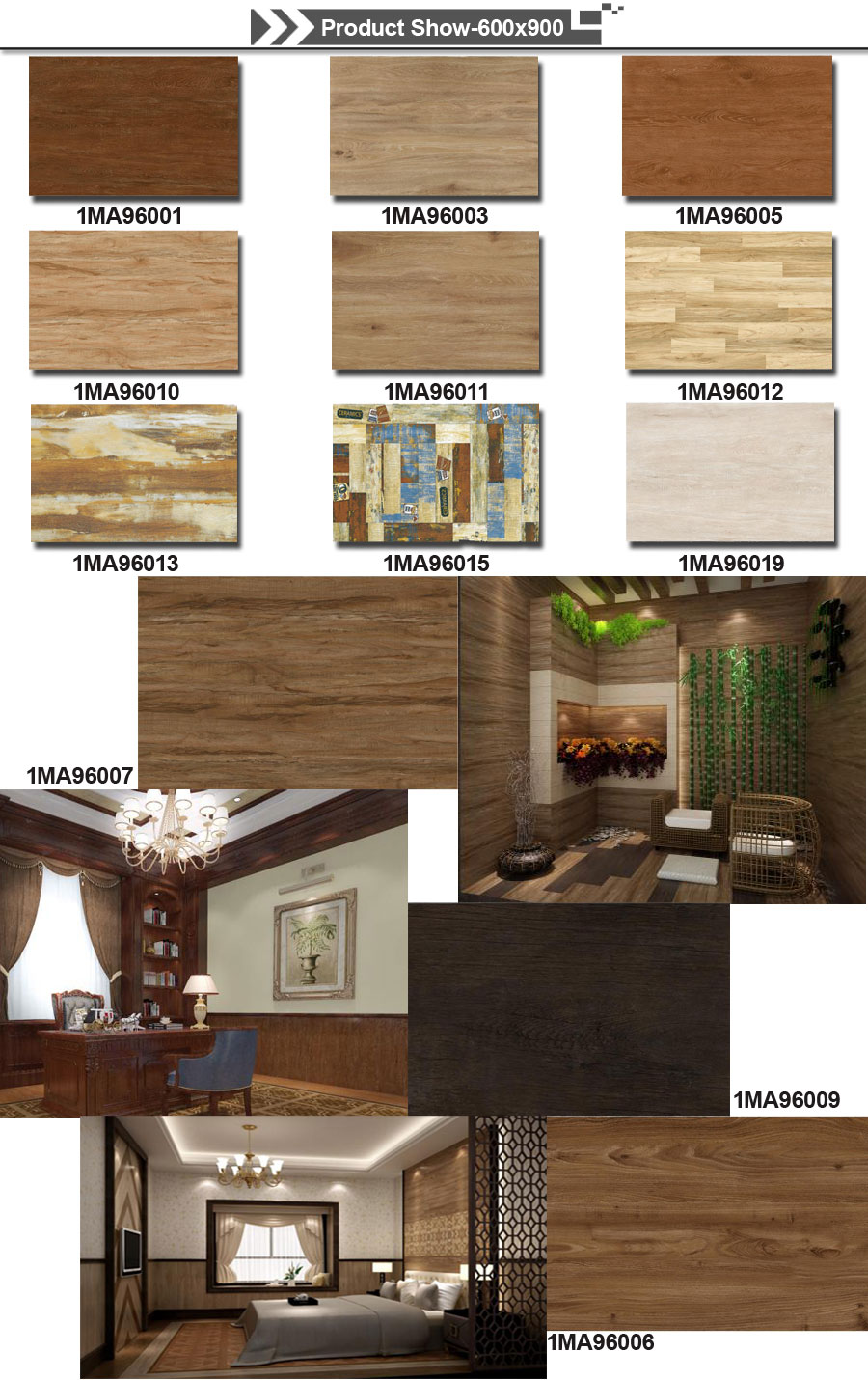 wood tiles living room