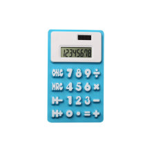 8 dígitos Soft Silicone Flexible Calculator