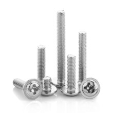 Nickel Plated M2 M2.5 M3 M4 Cross Recessed Pan Washer Head Machine Screw With Collar