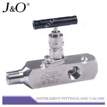 Bloc double en acier inoxydable et collecteur de vanne d'instrument de purge