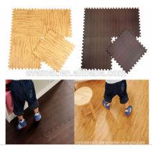 Tapis de sol à grain de bois en mousse eva non toxique