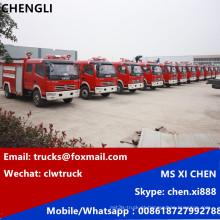 Dongfeng Dlk 4x2 LHD água tanque bombeiro caminhão