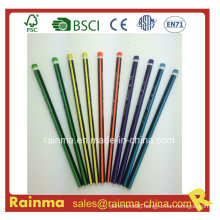 Triangle Neon Color Barrel Hb Wooden Pencil 5 Color