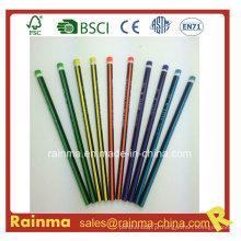 Cor de lápis de néon triângulo cor Hb lápis de madeira 5 cor