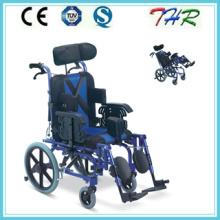 Thr-958L откидывающаяся инвалидная коляска с высокой спинкой для детей с церебральным параличом