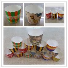 Mini pastel de papel para hornear tazas para el banquete de boda