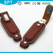 Brauner langer Stock-kundenspezifischer Logo-USB-Blitz-Antrieb (TL002)