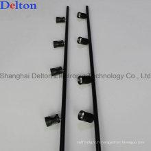 Plafonnier flexible noir pour l'éclairage de vitrine