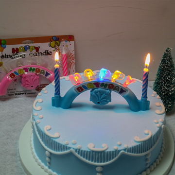 Electronical Play Happy Birthday Music Candle