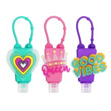 Kids Portable Cartoon Hand Sanitizer Holder Keychain