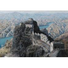 Pintura a óleo da paisagem dos montes