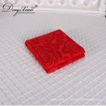 Venta caliente moda colorido uso en el hogar bebé tejido Swaddle Arm Cashmere Wool Blanket