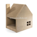 El gato de cartulina respetuoso del medio ambiente vendedor caliente de la casa contiene la casa popular del animal doméstico del nuevo estilo CT-4020
