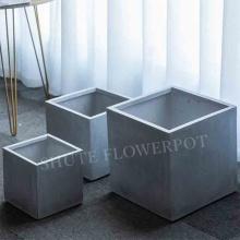 Environmentally Square fiberclay garden pots