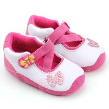 Dernière chaussure fille rose mary jane chaussures en gros