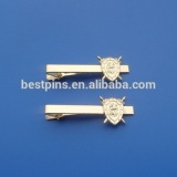 Alloy material custom shiny gold 3D design metal tie pin