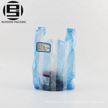 Sacs en plastique rayés de t-shirt bon marché de poly