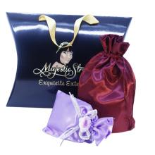 Custom Printed Drawstring Pouch Dust Satin Hair Bag