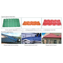 color natural stone coated metal tile sheet/stone coated metal roof tile