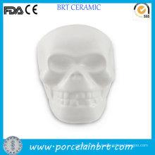 Уникальный череп с неокрашенным керамическим бисквитом