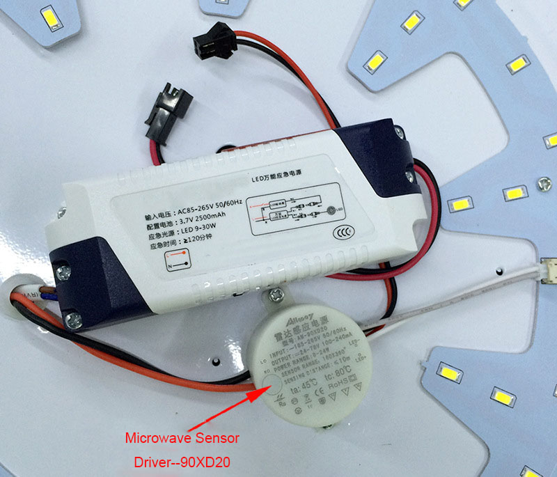 LED Driver with motion sensor