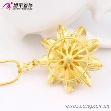 Xuping Moda Popular Banhado a Ouro 24k-Pingente Em Forma de Flor em Cobre Ambiental