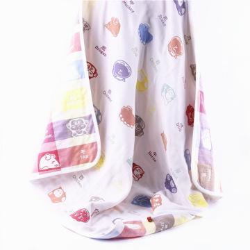 6 Capas Muselina Animal Design Baby Blanket Baby Muslin Wraps