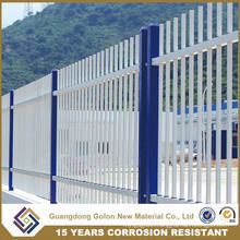 Powder Coating Assembled Galvanized Steel Garden Fencing