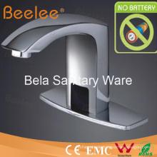 Becken verchromt Messing automatische Wasserhahn, Beelee Sensor tippen (qh0102p)