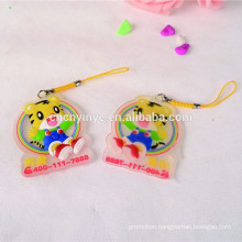 Animal Printed phone charm/phone decoration from factory