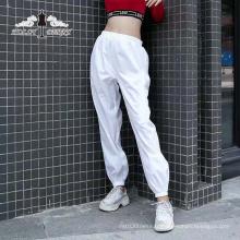 Streetwear Mode Blanc Taille Haute Élastique Pantalon De Yoga Lâche Femmes Casual
