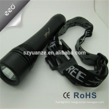 diving powerful led flashlight, led flashlight wristband, 100m led diving torch
