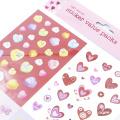 Adesivo colorido PVC deco Estrela Coração Número Alfabeto Adesivos adesivos para diário telefone Papelaria material Escolar Adesivos