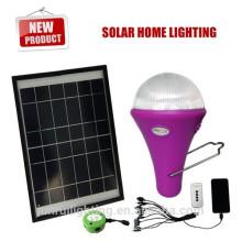 Sistema de energía solar portátil con 3 luces LED para África