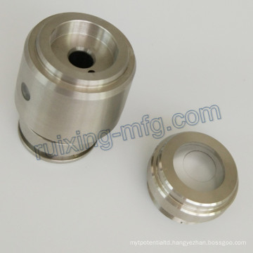 Custom CNC Turning Stainless Steel End Cap Assembling Acrylic Plastic Part