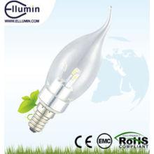 Heißer Verkauf 3w E27 Glasabdeckung führte Kerzenlicht CE & RoHs