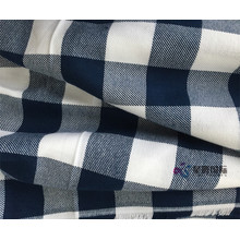 Benang Dicelup Plaid Combed Cotton Fabric