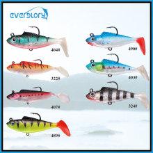 2/3′/5′ Leurre de pêche au plomb souple de couleur différente