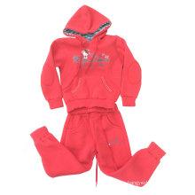 Traje del paño grueso y suave de la muchacha de la moda en el desgaste del deporte de la ropa de los niños (SWG-120)